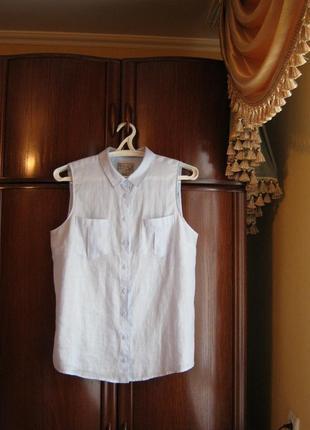 Рубашка m&co, 100% лен, размер 16