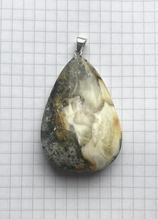 Натуральный янтарь. серебро 925 пр. большой кулон.3 фото