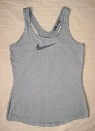 Nike pro dri-fit (м) спортивная майка женская