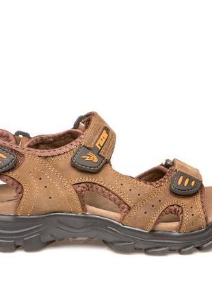 Босоножки сандалии мужские кожаные спортивные на липучках restime р. 40-45 3 цвета