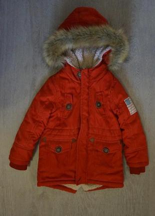 Продается детская,теплая курточка парка (зима)