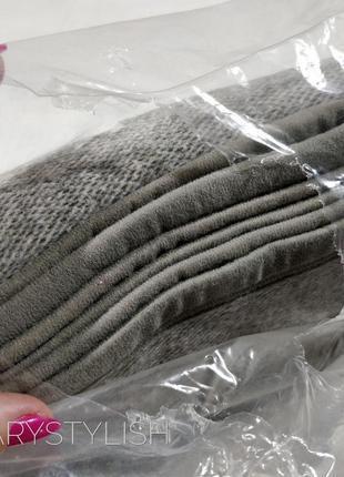 Серый плед, в упаковке 150х2003