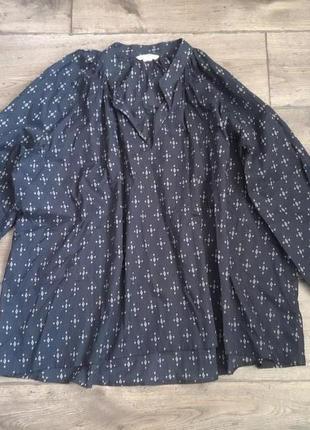 Стильная блузка сорочка рубашка h&m. оригинал2 фото