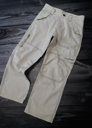 Летние светлые брюки с накладными карманами