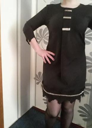 Платье фирменное женское стильное черное amn amnesia 44