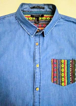 Оригинальная джинсовая рубашка.3 фото