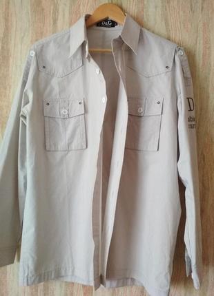 Стильная итальянская хлопковая рубашка  dolce & gabbana