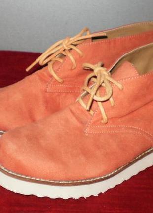 Модные ботинки демисезон эко замш 36р. стелька 23см
