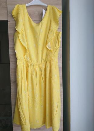 Яркое жёлтое платье  kiabi (франция) на 13 лет❤️3 фото