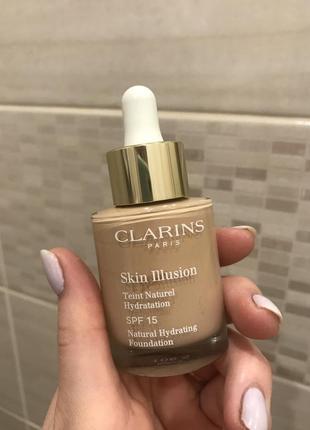 Тональный крем clarins skin illusion