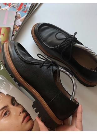 Кожаные женские туфли h&m pp 40