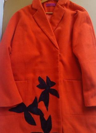 Эффектное коралловое пальто оверсайз(кокон) boohoo