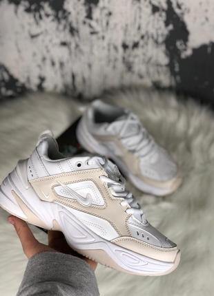 Nike m2k tekno white женские кроссовки наложенный платёж купить кросівки