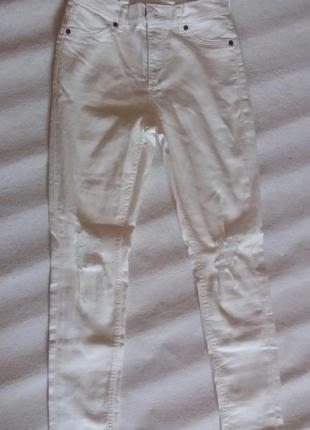 Білі  літні джинси cheap monday4 фото
