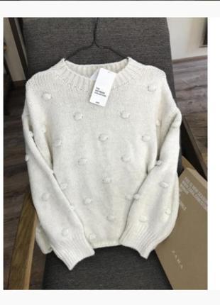 Трендовый свитер оверсайз от zara