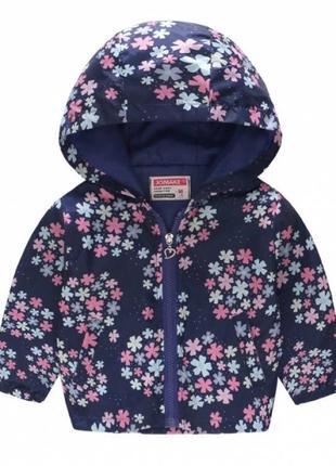 Яркая ветровка, куртка  с цветочками