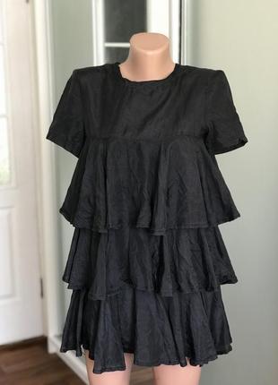 Красивенькая шелковая блузка блуза попило туника 100% шёлк