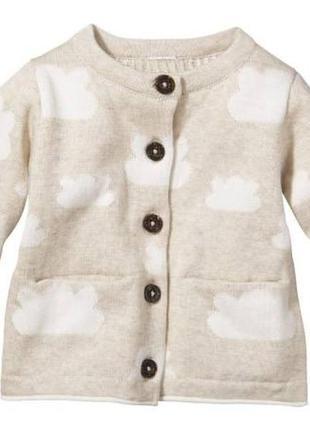 Кофта,кардиган lupilu organic cotton
