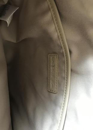 Белая сумка лакоста lacoste8
