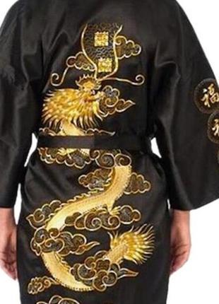 Шикарный халат с золотой вышивкой