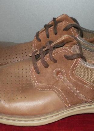 Кожаные мужские туфли columbia (коламбия) 47р. стелька 31см.3