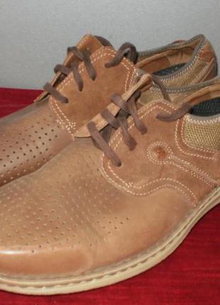 Кожаные мужские туфли columbia (коламбия) 47р. стелька 31см.5