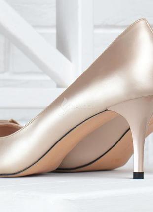 Туфли fabio monelli vogue бежевые лодочки женские на каблуке шпильке2 фото