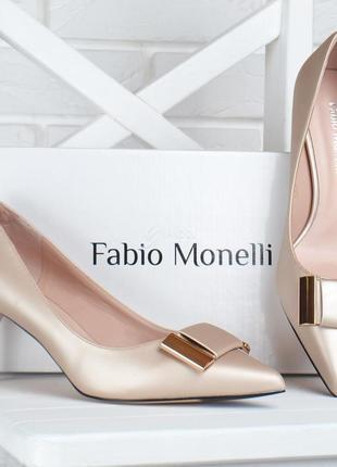 Туфли fabio monelli vogue бежевые лодочки женские на каблуке шпильке
