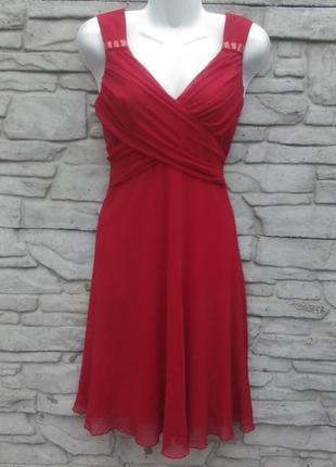 Нарядное, вечернее, выпускное, коктейльное платье красного цвета