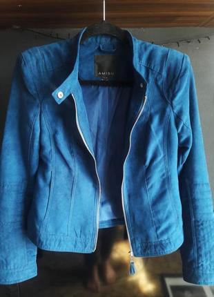 Замшевая курточка, бомбер amisu1