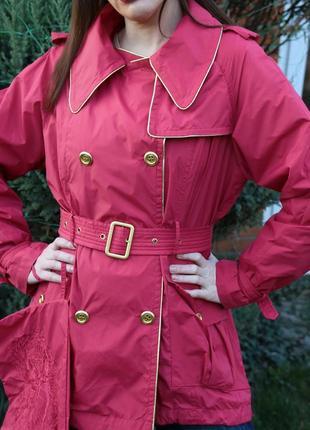 Новый весенний, летний  двубортный плащ дождевик, дождевая куртка, ветровка