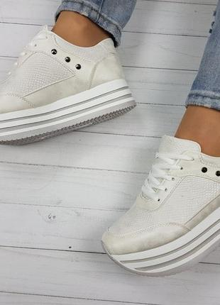 Женские кроссовки на платформе ✨польша