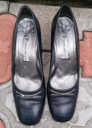 Туфли franco visconti vero cuoio размер 40 кожа лодочки