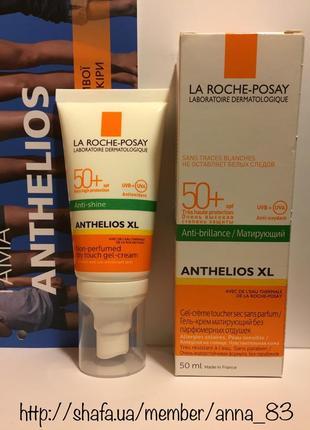 Солнцезащитный матирующий крем-гель la roche-posay anthelios xl gel-crema spf50+