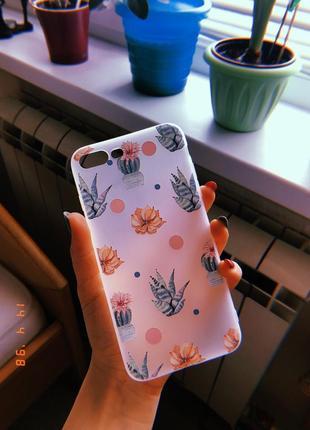 Новый силиконовый чехол для айфон iphone 7+ 8+