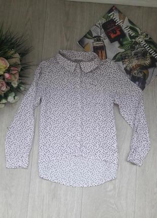 Рубашка в сердечко 6-7 лет h&m