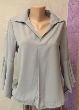 Блуза мода 2019 клёш рукава1 фото