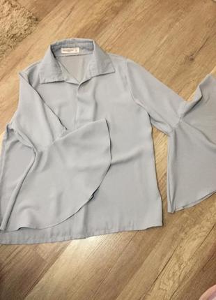 Блуза мода 2019 клёш рукава4 фото