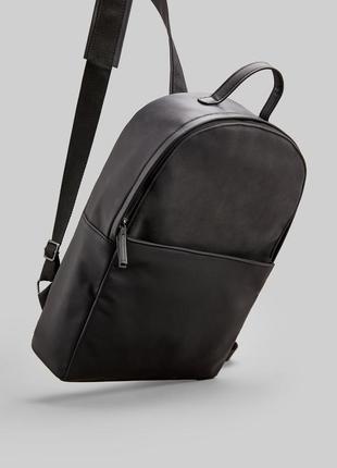 Рюкзак кожаный черный springfield