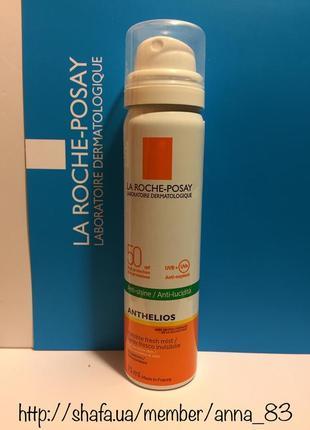 Солнцезащитный ультралегкий спрей для лица и тела la roche-posay anthelios spray spf50+