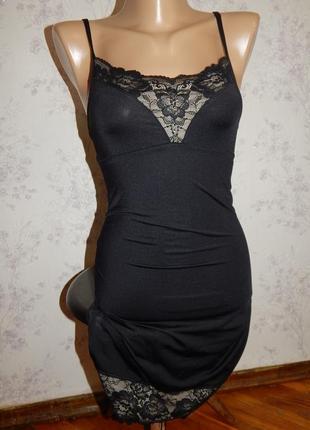 Marks&spencer чехол под платье утягивающий, корректирующий фигуру чёрный р10