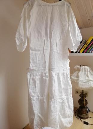 Льняное летнее платье oversize2 фото