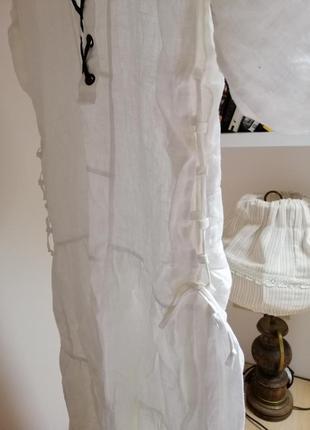 Льняное летнее платье oversize4 фото