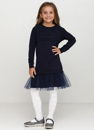 Платье синее top hat kids