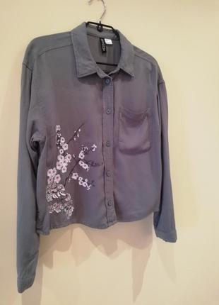Рубашка с вышивкой h&m
