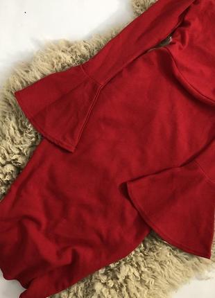 Распродажа! новогоднее платье c чокером и расклешенными рукавами!3 фото