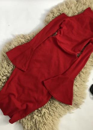 Распродажа! новогоднее платье c чокером и расклешенными рукавами!4 фото