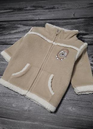 Курточка тёплая флисовая на молнии