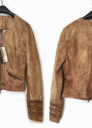 Новая  кожаная куртка от бренда goosecraft !!!