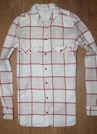 Рубашка в клетку 36-38р. летняя распродажа!
